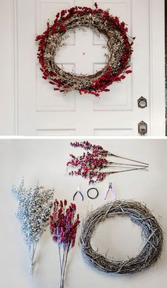 Easy To Make Holiday Wreath | DIY Christmas Wreaths for Front Door | Easy Christmas Decorating Ideas 2015