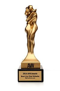 2014 AVN Award Statuette