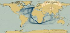James Cheshire of Spatial Analysis has visualised British, Dutch and Spanish historical shipping records to produce maps of 18th Century shipping trade routes