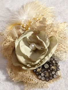Wedding Fascinator by StellaClare on Etsy, $45.00