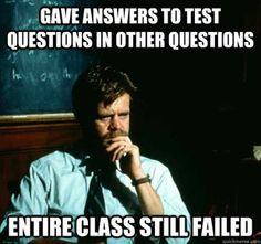 Here's one for instructors & faculty. #sadprofessor meme