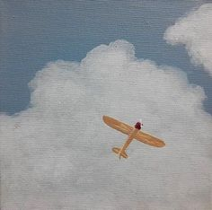Your place to buy and sell all things handmade Clouds Airplane Acrylic Painting Propeller Plane by Cansupo<br> Airplane Painting, Airplane Art, Painting & Drawing, Watercolor Paintings, Watercolors, Small Paintings, Original Paintings, Aesthetic Painting, Art Studies