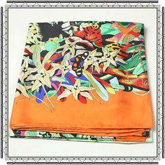 Hermes-Scarves-Silk-Broadcloth-WJH089-Light-Orange_2.jpg (600×600)