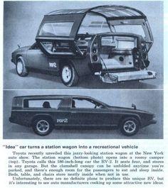 1973: Toyota Station Wagon Turns into RV : TreeHugger