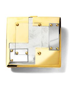 Reed Krakoff Clutch - Gold Accent Accessories for December 2012 - Harper's BAZAAR