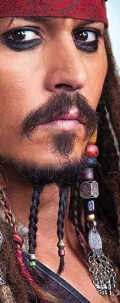 Johnny Depp  as Captain Jack Sparrow in 'Pirates of the Caribbean - #JohnnyDepp #JackSparrow #PiratesoftheCaribbean                                                                                                                                                      More