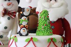 #Ponque con decoración de #Navidad.  www.mocka.co  #mocka #pasteleria #cakeshop…