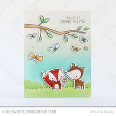 Forest Friends, Forest Friends Die-namics, I'm Tweet On You, I'm Tweet On You Die-namics, Grassy Hills Die-namics - Melania Deasy  #mftstamps