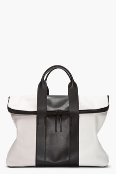 Black & White Leather Bag