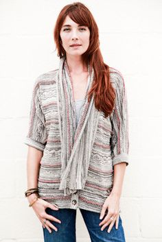 Goddis Brie Open Knit Cardigan in Rustic Taupe