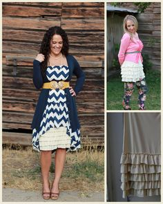 Skirt Extenders from Peekaboo Chic broadens Fashion with lavish layering apparel.