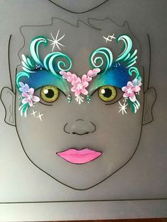 Face Painting Tutorials Make Up Body Art - Monster Face Painting, Doll Painting, Painting For Kids, Mermaid Face Paint, Butterfly Face Paint, Mask Face Paint, Doll Face Paint, Face Painting Tutorials, Face Painting Designs