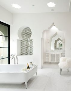 Love this middle eastern inspired bathroom. #home #decor