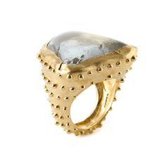 milly swire, aquamarine ring ... I love all the little tiny gold polka dots