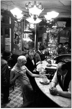 """by Frank Horvat -   Paris, """"Le Chien Qui Fume"""", 1957"""