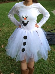 DIY Olaf costume for teen girls