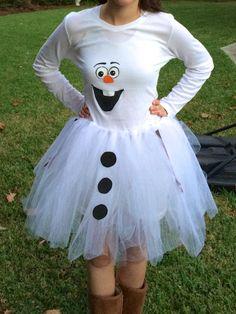 DIY Olaf costume for teen girls