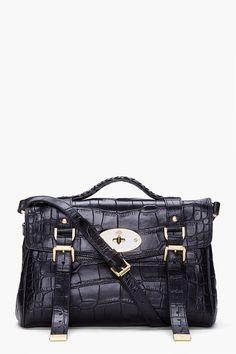 Mulberry - Black Alexa Veg Tan Bag - Lyst da56ddbb0e2ee