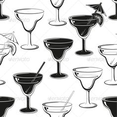 Seamless Background, Glasses Silhouettes ...  alcohol, background, black, bocal, cocktail, contour, drawing, drink, form, glass, goblet, graphic, holiday, isolated, lemonade, monochrome, ornament, outline, pattern, repeating, restaurant, seamless, silhouette, stemware, vector, vine, wallpaper, white, wine, wineglass