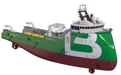 3d anchor handling tug supply vessel model