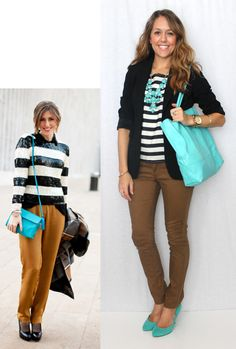 I knew months ago that turquoise was this season's accent color... J's Everyday Fashion: Today's Everyday Fashion: Accent Color