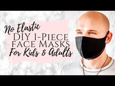 Make a DIY face mask without elastic with this 5 minute printable sewing pattern. This homemade face mask comes in 3 sizes for kids and adults. Face Masks For Kids, Easy Face Masks, Homemade Face Masks, Best Diy Face Mask, Mens Face Mask, Neoprene Face Mask, Diy Masque, Printable Masks, Mask Template