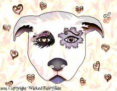 Pitbull Art, Dog Art, Rescue Pitbull, Wall Art Decor, Charcoal sketch, Digital Print 8x10 with Donation