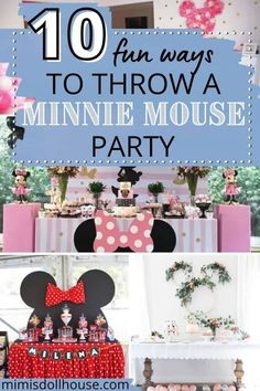 Celebrate your birthday with a some adorable Minnie Mouse ideas! Minnie Mouse Party Theme: 10 Stylish Minnie Mouse Parties. Does your little sweetheart love Minnie Mouse? Is a Minnie Mouse party theme right up your alley? There is nothing quite like a Minnie Mouse Party. We have some Mouska-tasic Minnie Mouse parties to share. #minniemouse #disney #holiday #party #parties #partyideas #mickeymouse #girl #kids #birthday #craft #diy Minnie Mouse Clubhouse, Minnie Mouse Theme Party, Minnie Mouse Party Decorations, 1st Birthday Party Decorations, Minnie Mouse 1st Birthday, Fun Party Themes, Mickey Mouse Parties, Party Ideas, Birthday Party Treats