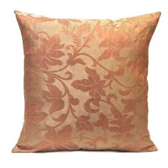 Beige and Pink color Polyester Pillow Cover with Floral Pattern  Visit https://www.etsy.com/shop/SHPillows?ref=l2-shopheader-name to see the rest of our collection.  Thank you!!