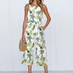 New 2018 Strap Floral Printed Jumpsuit Women Casual Beach Party Wide Leg Long Playsuit Summer Sexy Sleeveless Women's Rompers Pant Romper Outfit, Playsuit Romper, Rompers Women, Jumpsuits For Women, Women's Rompers, Beach Jumpsuits, Jumpsuit Casual, Printed Jumpsuit, Fashion Clothes