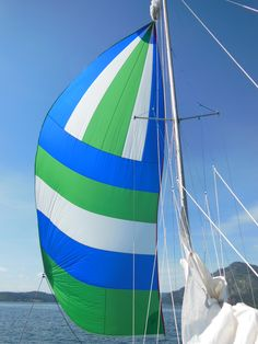 Running downwind with a full spinnaker is one of sailing's biggest joys Boating Tips, Sailboat Living, Boat Projects, Boat Stuff, Set Sail, Rigs, Sailing Ships, Surfboard, Sailor