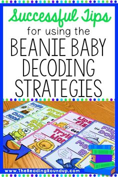 Teaching decoding skills to elementary students can be difficult. But these simple tips can help you successfully implement the Beanie Baby reading strategies with your guided reading groups, small groups, Small Group Reading, Guided Reading Groups, Student Reading, Kindergarten Reading, Reading Resources, Teaching Reading, Word Study, Word Work, Spelling Activities