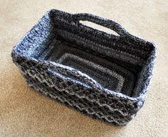 Rectangular Diamond Trellis Basket empty