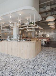 Atlanta breakfast joint Pancake Social draws on simplicity of Scandinavian design – Scandinavian 2020 Cafe Design, Interior Design, Wood Cafe, Cafe Counter, Painting Wood Paneling, Lokal, Built In Bench, Commercial Interiors, Ceiling Design