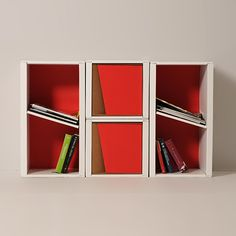 2/Cube - #Modular #component -  A rectangular module with a practical diagonal shelf set in the middle where you can put your #books or magazines down. Combine it as you prefer to best settle your space. - #bookcase #design - http://eco-and-you.com/en/shop/2cube/#!prettyPhoto
