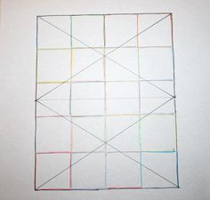 big diamond, little diamond – a straight line quilting pattern – Film in the Fridge