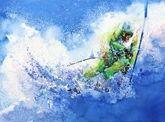 Competitive Edge by Hanne Lore Koehler ~ slalom skier