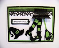 Ann Greenspan's Crafts: Colorful Halloween cards