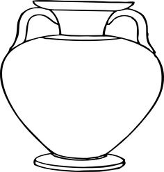 line art drawings vase ~ vase line drawing ; flower vase line drawing ; one line drawing vase ; flowers in vase line drawing ; line drawing flower in vase ; vase of flowers line drawing ; line art drawings vase ; line drawings vase Ancient Greek Art, Ancient Greece, Square Glass Vase, Greek Crafts, Greece Art, Rome Antique, Antique Vases, Flower Outline, Clip Art