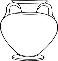 Flower Outlines for Coloring | Large Vase clip art - vector clip art online, royalty free & public ...