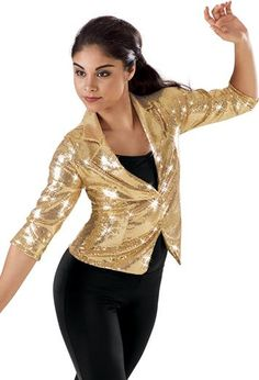 Three-Quarter Sleeve Sequin Dance Blazer - Balera  I NEED THIS
