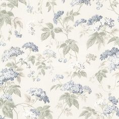Buy the Brewster Blue Blossom Direct. Shop for the Brewster Blue Blossom Emily Blue Blossom Trail Wallpaper and save. Toile Wallpaper, Bathroom Wallpaper, Wallpaper Samples, Beacon House, Brewster Wallpaper, Farm House Colors, Beige Aesthetic, Vintage Roses, Custom Paint