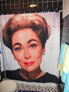 Joan Crawford Mommie Dearest Shower Curtain Gay Camp Drag Queen Faye Dunaway