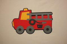 Free Standing Handmade Birthday Party Centerpiece - Red Fire Truck / Engine / Fireman Theme Kids Birthday Party – Birthday Party Packages on Etsy, $10.00