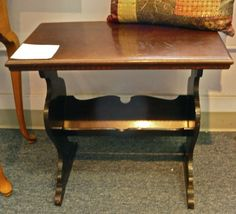 Vintage Mahogany End Table / Magazine Rack: why does greg hate this? I want one lol