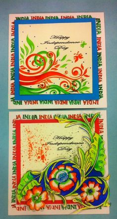 Art ,Craft ideas and bulletin boards for elementary schools: India: Independence day Invitation card | Handmade...