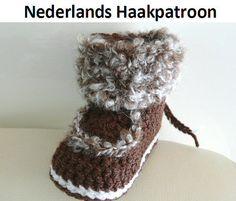 Nederlands Haakpatroon Winter Boots 6 24 mnd door ElodyKnitsforKids