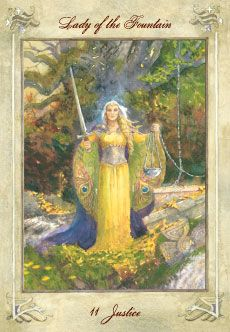 Having the inner strength and confidence not to be swayed by the opinions of others. Internal balance achieved by being temporarily unattached to an outcome. Having the patience to allow Justice time to determine Her course.