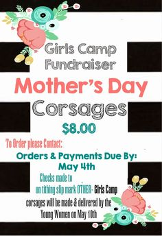 This-n-that; a little crafting: Girls Camp Fundraiser: Mother's Day Corsages