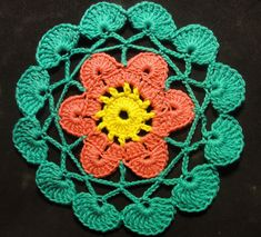 Салфетка, подставка Вязание крючком Crocheting Napkin